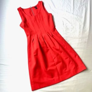 J. CREW PLEATED FIT AND FLARE COCKTAIL TANK DRESS